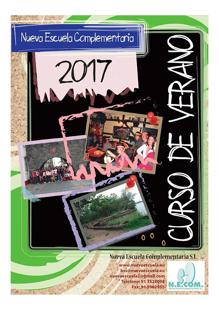 folleto del campamento de ingles en irlanda verano 2017