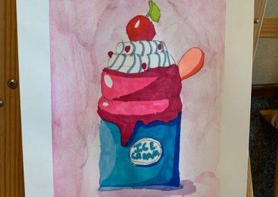 Ice Cream realizado en témpera